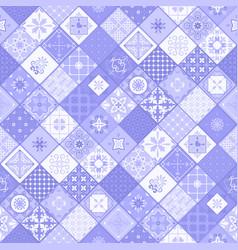 blue rhombus modern tile background vector image