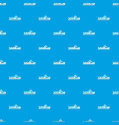 boat pattern seamless blue vector image
