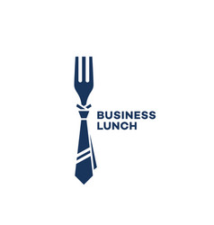 business lunch logo vector image