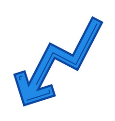 chart down line icon vector image