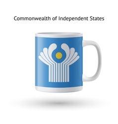 Commonwealth independent states flag souvenir vector