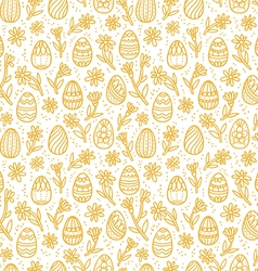 Decorative easter gold eggs seamless pattern vector