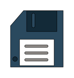 diskette save symbol vector image