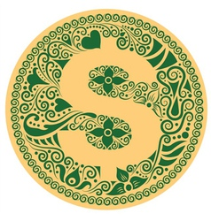 dollar ornament vector image