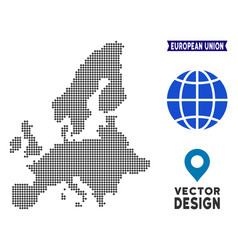dotted european union map vector image