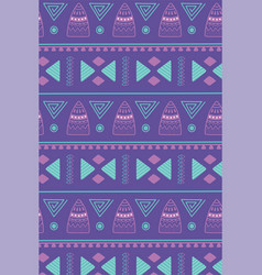 Ethnic handmade african tribal ornament carpet vector