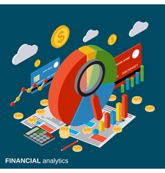 Financial analytics business report concept vector