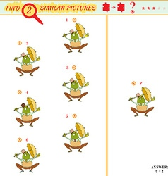 Find two similar pictures vector