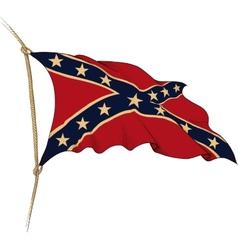flag confederate vector image