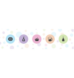 Foam icons vector