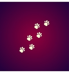 footprints of dogs turn right vector image