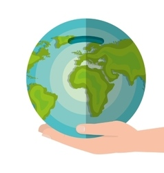 global economy world savings vector image