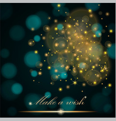golden lights concept abstract on turquoise vector image