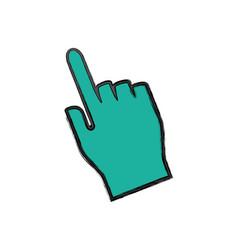 hand click cursor vector image