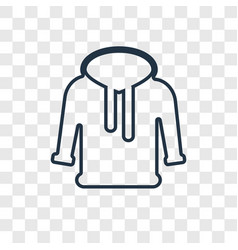 hoodie concept linear icon isolated on vector image