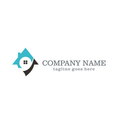 House unique realty company logo vector