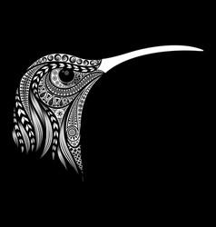 hummingbird head from original patterns vector image