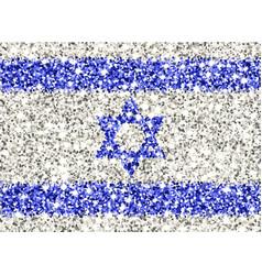 israel sparkling flag vector image