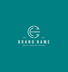Letter ec logo design vector