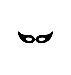 mask carnival party decoration object vector image