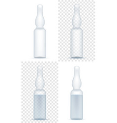 Medical ampoule for injection stock vector