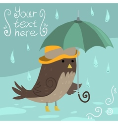 Mr Sparrow with Umbrella vector