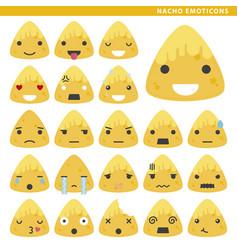 Nacho emoticons vector