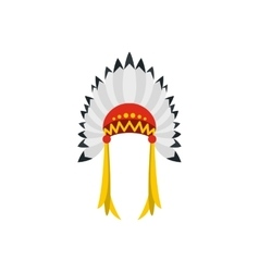 Native American indian headdress icon vector image