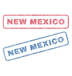 new mexico textile stamps vector image