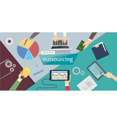 Outsourcing Hiring Outsource Outsourcing digital vector image