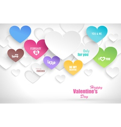 Paper hearts with shadow vector image
