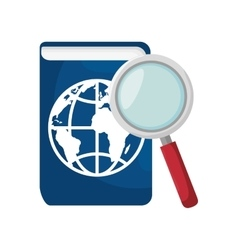 passport and magnifying glass vector image