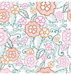 pastel floral seamless pattern background vector image