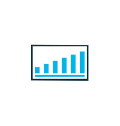 project presentation icon colored symbol premium vector image