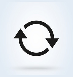 refresh and circle symbol simple modern icon vector image