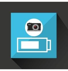 Retro camera photographic battery vector