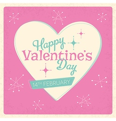 Retro valentines day design vector