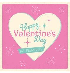 Retro Valentines Day Design vector image