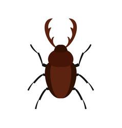 rhinoceros beetle icon flat style vector image