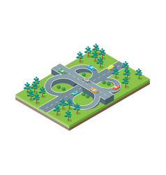 road crossroads isometric view vector image