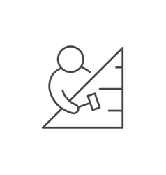 roofing process line outline icon vector image