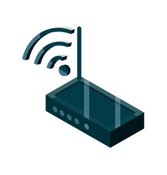 router internet wifi device gadget technology vector image