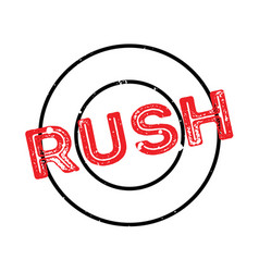 rush rubber stamp vector image