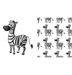 Seamless and isolated animal pattern cartoon vector