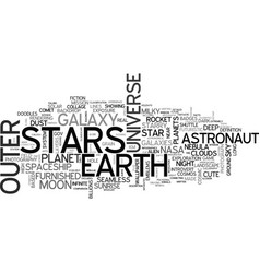 Space word cloud concept vector