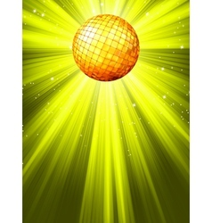 Sparkling Disco Ball Background vector image