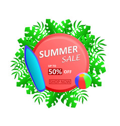 summer sale up to 50 off discount vector image