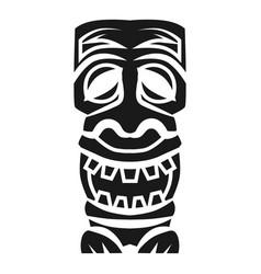 Tribal wood idol icon simple style vector