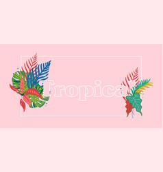 tropical print vector image