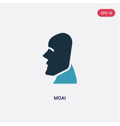 Two color moai icon from stone age concept vector